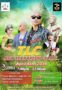 TLC New Year Fresno Party 2019