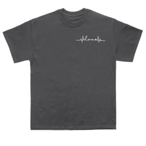 love-unity-ECG-wave-black-shirt-front-2
