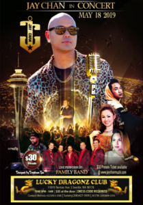 Jay Chan in Concert – Seattle 2019