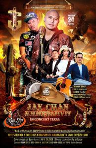 Jay Chan, Khmer1Jivit in Concert – Texas 2019