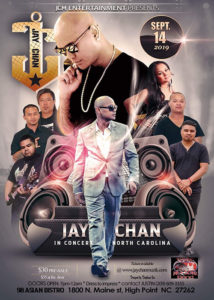 Jay Chan in Concert – North Carolina 2019