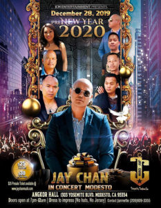 Jay Chan in Concert – Modesto PRE-NYE 2020