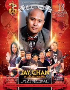 Jay Chan in Concert – Virginia 2020