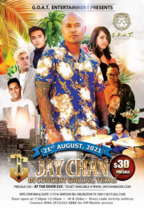Jay Chan in Concert – Dallas 2021